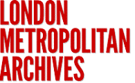 London Metropolitan Archives in red uppercase text